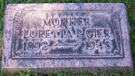 GIER, LORETTA P. - Stark County, Ohio | LORETTA P. GIER - Ohio Gravestone Photos