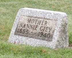 GIEY, NANNIE - Stark County, Ohio | NANNIE GIEY - Ohio Gravestone Photos