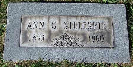 GILLESPIE, ANN G. - Stark County, Ohio | ANN G. GILLESPIE - Ohio Gravestone Photos