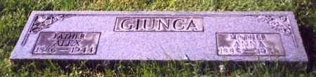 GIUNCA, ALEX - Stark County, Ohio | ALEX GIUNCA - Ohio Gravestone Photos