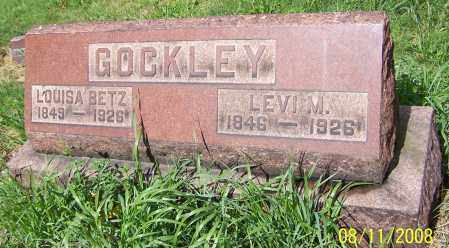 GOCKLEY, LOUISA BETZ - Stark County, Ohio | LOUISA BETZ GOCKLEY - Ohio Gravestone Photos