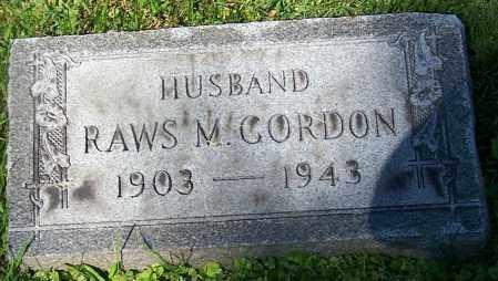 GORDON, RAWS M. - Stark County, Ohio | RAWS M. GORDON - Ohio Gravestone Photos