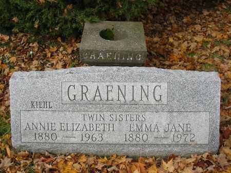 GRAENING, EMMA JANE - Stark County, Ohio | EMMA JANE GRAENING - Ohio Gravestone Photos