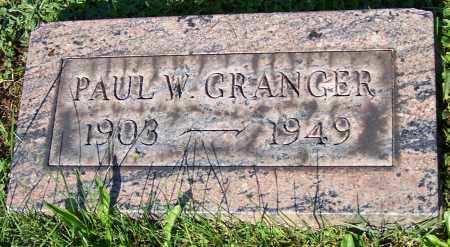 GRANGER, PAUL W. - Stark County, Ohio | PAUL W. GRANGER - Ohio Gravestone Photos