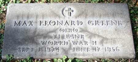 GREENE, MAX LEONARD - Stark County, Ohio | MAX LEONARD GREENE - Ohio Gravestone Photos