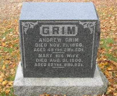 GRIM, ANDREW - Stark County, Ohio | ANDREW GRIM - Ohio Gravestone Photos