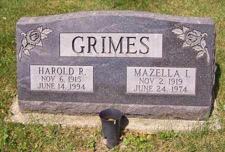 GRIMES, MAZELLA I. - Stark County, Ohio | MAZELLA I. GRIMES - Ohio Gravestone Photos