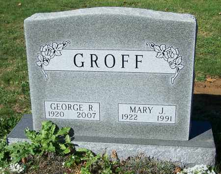 GROFF, MARY J. - Stark County, Ohio | MARY J. GROFF - Ohio Gravestone Photos