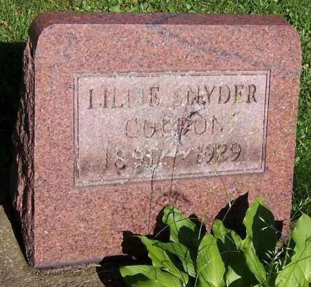 GURDON, LILLIE SNYDER - Stark County, Ohio | LILLIE SNYDER GURDON - Ohio Gravestone Photos