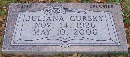 GURSKY, JULIANA - Stark County, Ohio | JULIANA GURSKY - Ohio Gravestone Photos