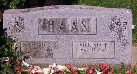 HAAS, BERNARD D. (SR) - Stark County, Ohio | BERNARD D. (SR) HAAS - Ohio Gravestone Photos