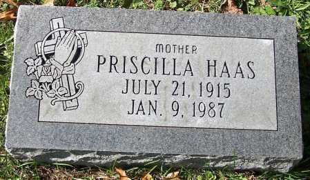 HAAS, PRISCILLA - Stark County, Ohio | PRISCILLA HAAS - Ohio Gravestone Photos
