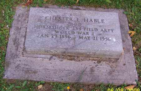 HABLE, CHESTER L. - Stark County, Ohio | CHESTER L. HABLE - Ohio Gravestone Photos