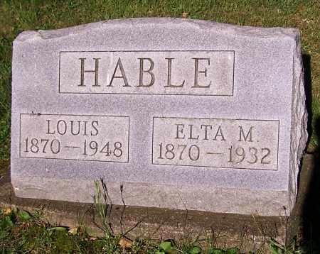 HABLE, LOUIS - Stark County, Ohio | LOUIS HABLE - Ohio Gravestone Photos