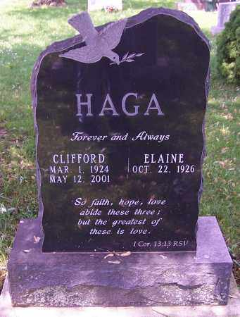 HAGA, CLIFFORD - Stark County, Ohio | CLIFFORD HAGA - Ohio Gravestone Photos