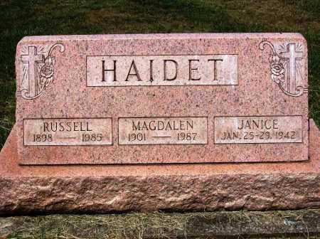 HAIDET, RUSSELL - Stark County, Ohio | RUSSELL HAIDET - Ohio Gravestone Photos