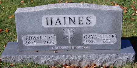 HAINES, EDWARD C. - Stark County, Ohio | EDWARD C. HAINES - Ohio Gravestone Photos