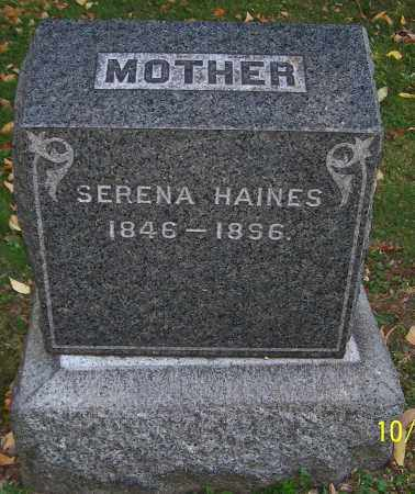 HAINES, SERENA - Stark County, Ohio | SERENA HAINES - Ohio Gravestone Photos