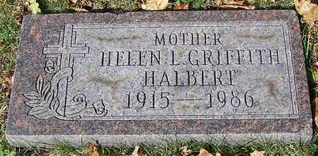 HALBERT, HELEN L. GRIFFITH - Stark County, Ohio | HELEN L. GRIFFITH HALBERT - Ohio Gravestone Photos