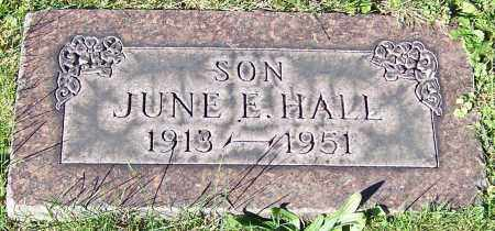 HALL, JUNE E. - Stark County, Ohio | JUNE E. HALL - Ohio Gravestone Photos