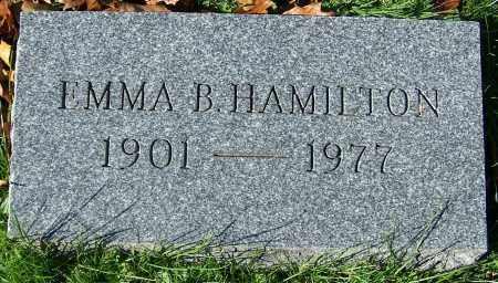 HAMILTON, EMMA B. - Stark County, Ohio | EMMA B. HAMILTON - Ohio Gravestone Photos