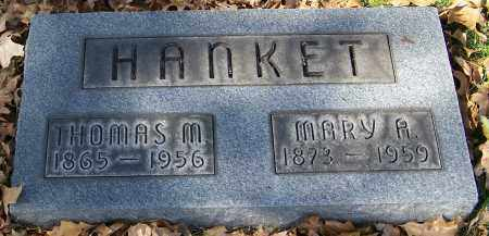 HANKET, MARY A. - Stark County, Ohio | MARY A. HANKET - Ohio Gravestone Photos