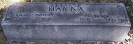 HANNA, FRANK ASA - Stark County, Ohio | FRANK ASA HANNA - Ohio Gravestone Photos