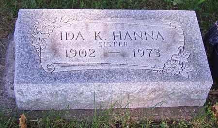 HANNA, IDA K. - Stark County, Ohio | IDA K. HANNA - Ohio Gravestone Photos
