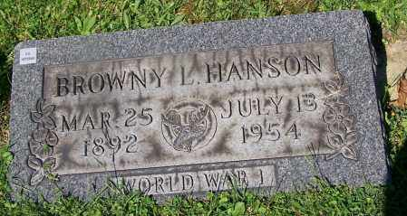 HANSON, BROWNY L. - Stark County, Ohio | BROWNY L. HANSON - Ohio Gravestone Photos