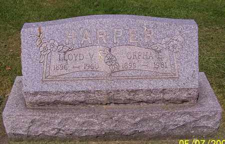 HARPER, LLOYD V. - Stark County, Ohio | LLOYD V. HARPER - Ohio Gravestone Photos