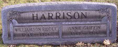 HARRISON, WILLIAMSON RIDDLE - Stark County, Ohio | WILLIAMSON RIDDLE HARRISON - Ohio Gravestone Photos