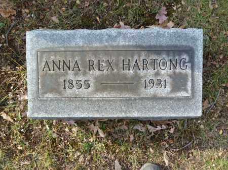 REX HARTONG, ANNA - Stark County, Ohio | ANNA REX HARTONG - Ohio Gravestone Photos