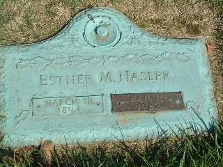 WELTON HASLER, ESTHER MARIE - Stark County, Ohio | ESTHER MARIE WELTON HASLER - Ohio Gravestone Photos