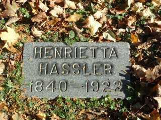 HARTER HASSLER, HENRIETTA - Stark County, Ohio | HENRIETTA HARTER HASSLER - Ohio Gravestone Photos