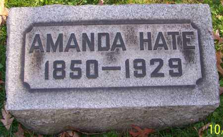 HATE, AMANDA - Stark County, Ohio | AMANDA HATE - Ohio Gravestone Photos