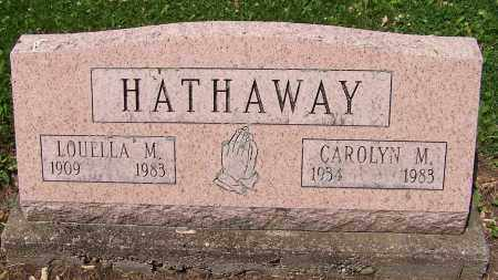 HATHAWAY, CAROLYN M. - Stark County, Ohio | CAROLYN M. HATHAWAY - Ohio Gravestone Photos