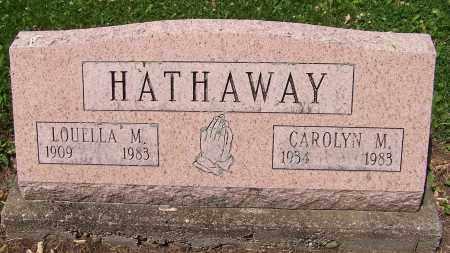 HATHAWAY, LOUELLA M. - Stark County, Ohio | LOUELLA M. HATHAWAY - Ohio Gravestone Photos