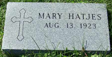 HATJES, MARY - Stark County, Ohio | MARY HATJES - Ohio Gravestone Photos
