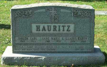 HAURITZ, JORGEN CARL - Stark County, Ohio | JORGEN CARL HAURITZ - Ohio Gravestone Photos