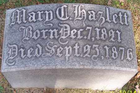 HAZLETT, MARY C. - Stark County, Ohio | MARY C. HAZLETT - Ohio Gravestone Photos