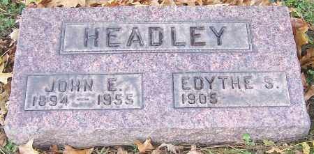 HEADLEY, JOHN E. - Stark County, Ohio | JOHN E. HEADLEY - Ohio Gravestone Photos