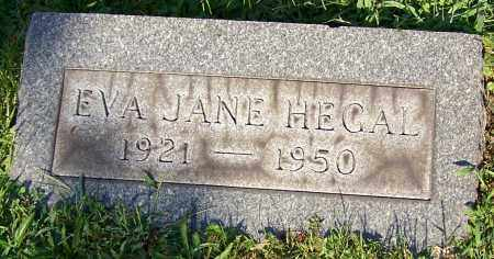 HEGAL, EVA JANE - Stark County, Ohio | EVA JANE HEGAL - Ohio Gravestone Photos