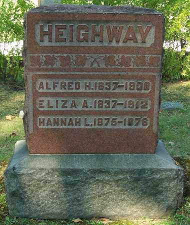 HEIGHWAY, ELIZA A. - Stark County, Ohio | ELIZA A. HEIGHWAY - Ohio Gravestone Photos