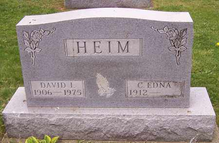 HEIM, DAVID I. - Stark County, Ohio | DAVID I. HEIM - Ohio Gravestone Photos