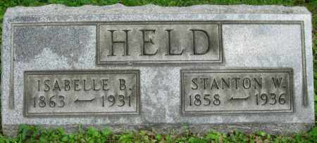BENSKIN HELD, ISABELLE - Stark County, Ohio | ISABELLE BENSKIN HELD - Ohio Gravestone Photos