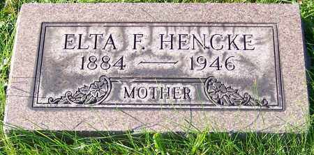 HENCKE, ELTA F. - Stark County, Ohio | ELTA F. HENCKE - Ohio Gravestone Photos