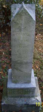 HERING, W.FRANKLIN - Stark County, Ohio | W.FRANKLIN HERING - Ohio Gravestone Photos