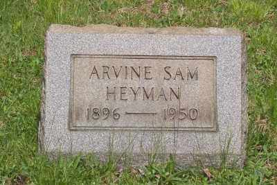 HEYMAN, ARVINE SAM - Stark County, Ohio | ARVINE SAM HEYMAN - Ohio Gravestone Photos