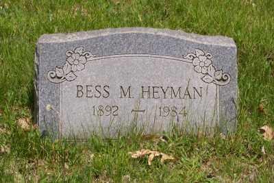 HEYMAN, BESS M. - Stark County, Ohio | BESS M. HEYMAN - Ohio Gravestone Photos