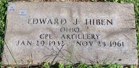 HIBEN, EDWARD J. - Stark County, Ohio | EDWARD J. HIBEN - Ohio Gravestone Photos